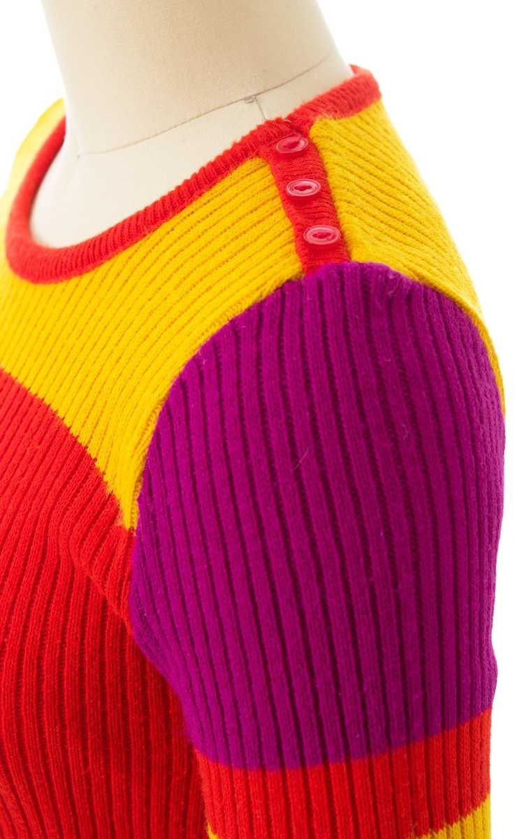 NEW ARRIVAL || 1970s Color Block Knit Sweater | x… - image 5