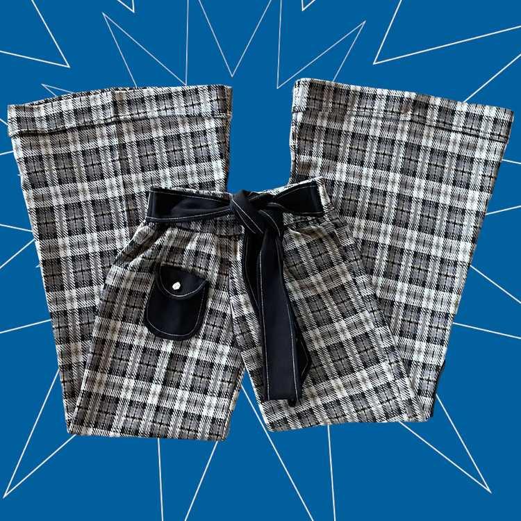 60's/70's Straight Leg Bell Bottoms - image 1