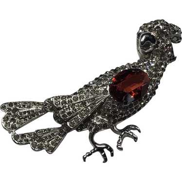 1940's Unsigned bird brooch