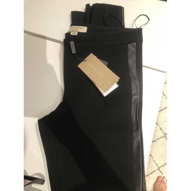 Burberry Black Trousers for Women 40 - image 2