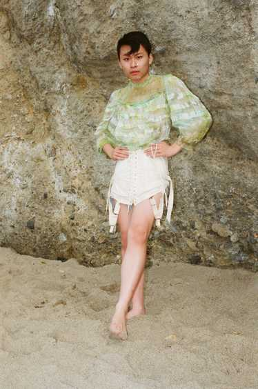 Algae Antique Victorian Blouse - image 1