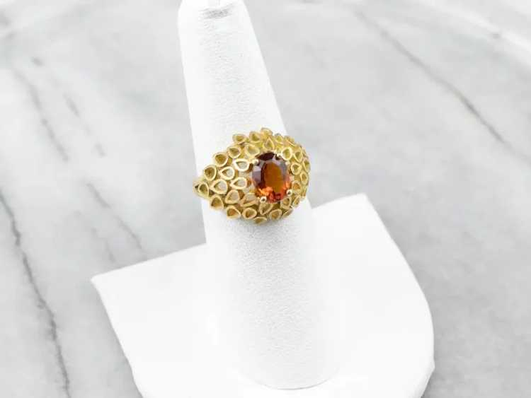 Funky Citrine Statement Ring - image 9
