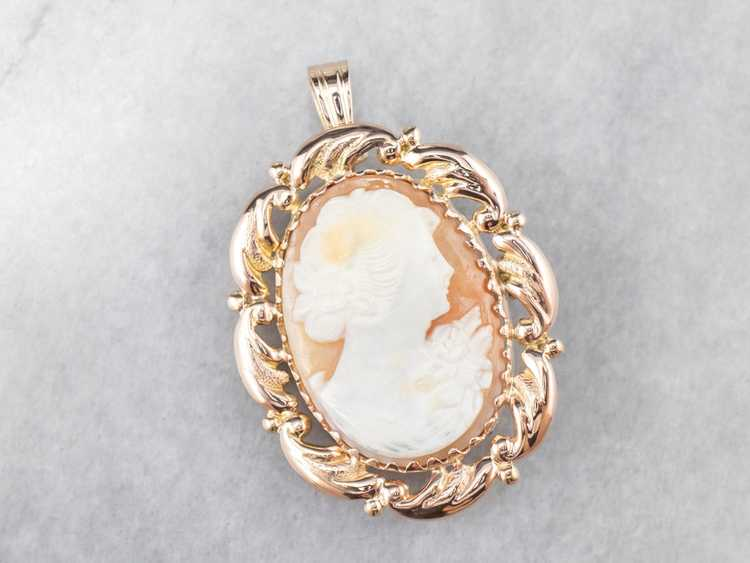 Mid Century Cameo Pendant or Pin - image 1