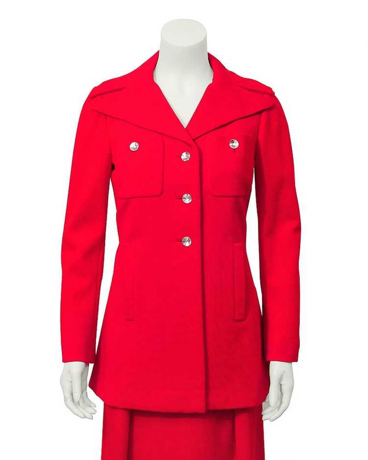 Pauline Trigere Red gown & coat ensemble - image 4