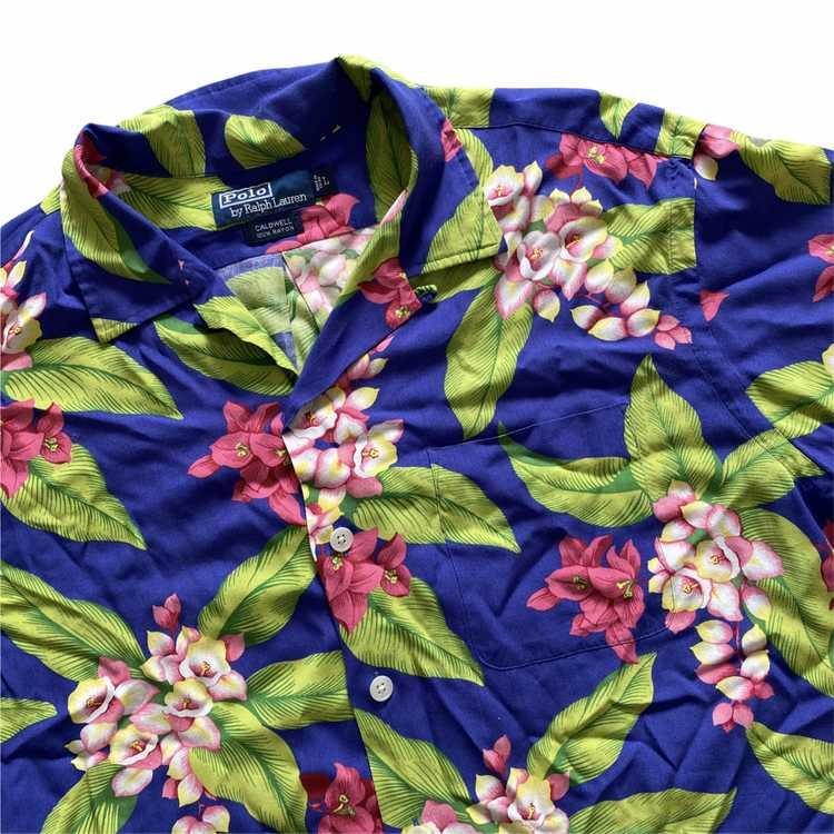 Polo rayon aloha shirt. Rayon large - image 2