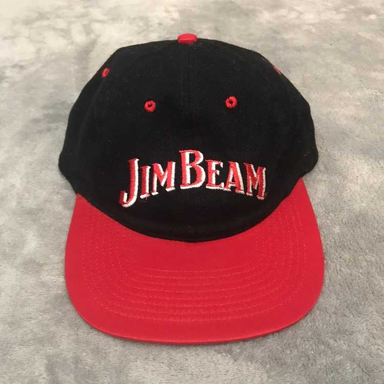 Jim Beam Bourbon Vintage 1990/'s Adult Mens Suede Brim Baseball Cap Hat