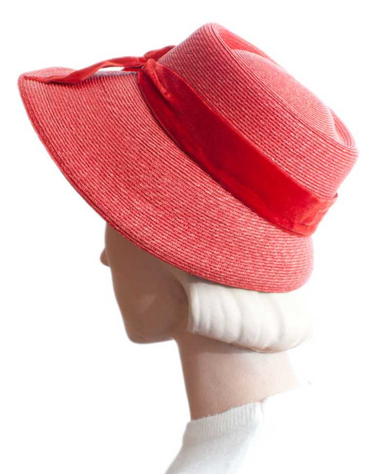 1960s Elsa Schiaparelli Straw Hat - image 2