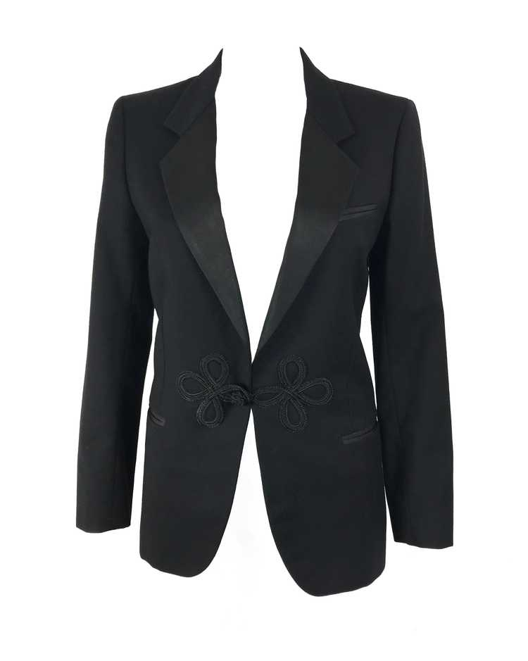 Gucci 1970s Black Smoking Two Piece Suit - image 3