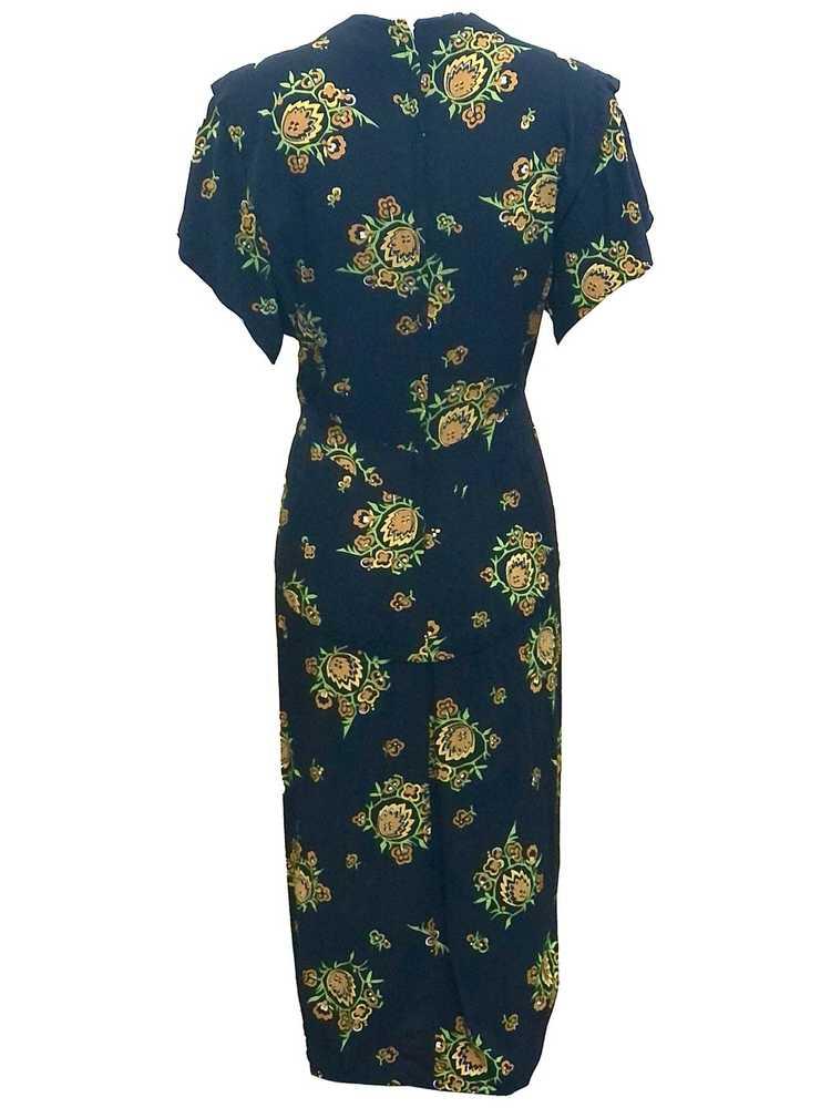 Dorothy O'Hara 40s Rayon Print Dress - image 3