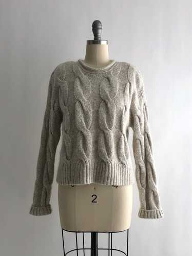 Vintage 80s Cropped Mohair Sweater