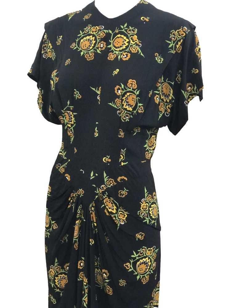 Dorothy O'Hara 40s Rayon Print Dress - image 4