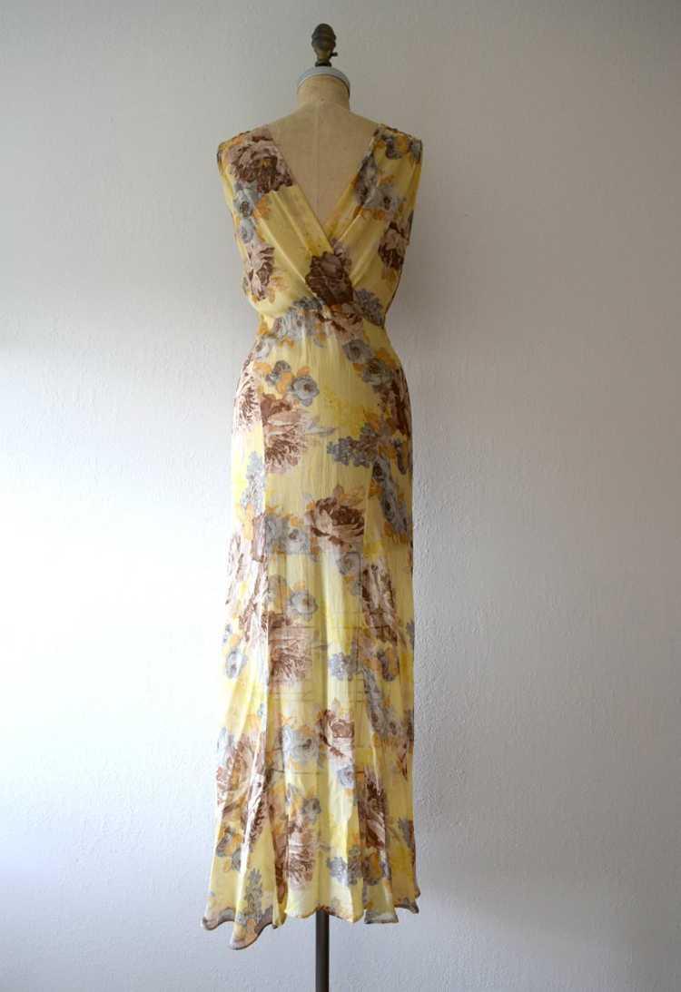 1930s floral chiffon dress . vintage 30s gown - image 4