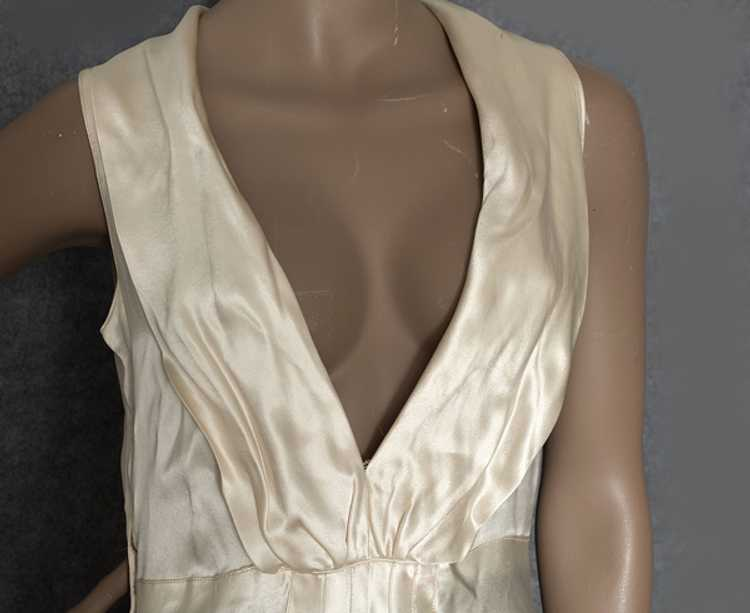 Hollywood style, bias-cut charmeuse nightgown, 19… - image 3