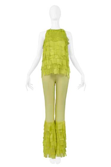 PACO 2001 SS CHARTREUSE GREEN TEXTURED TOP & BELL
