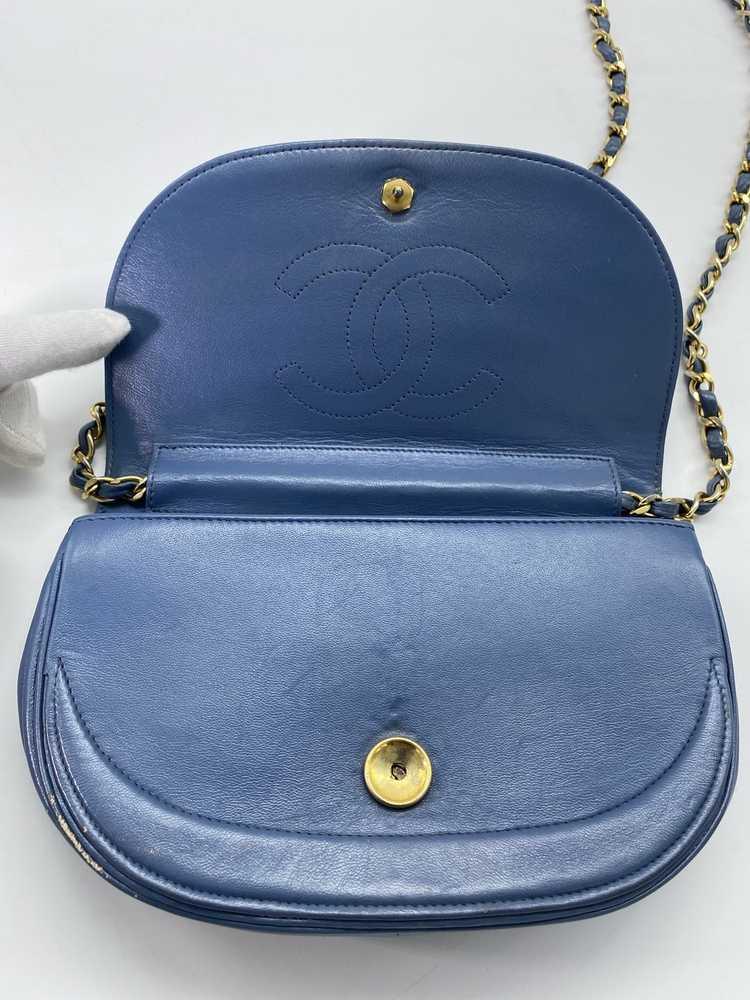 Chanel Blue Lambskin Flap Bag - image 4