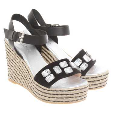 Pollini Wedges Leather in Black