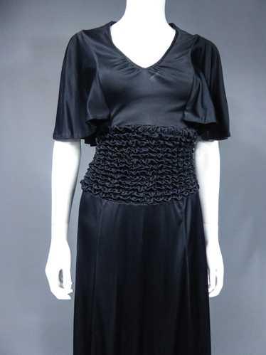 Evening Dress in Smocked Jersey Circa 1990