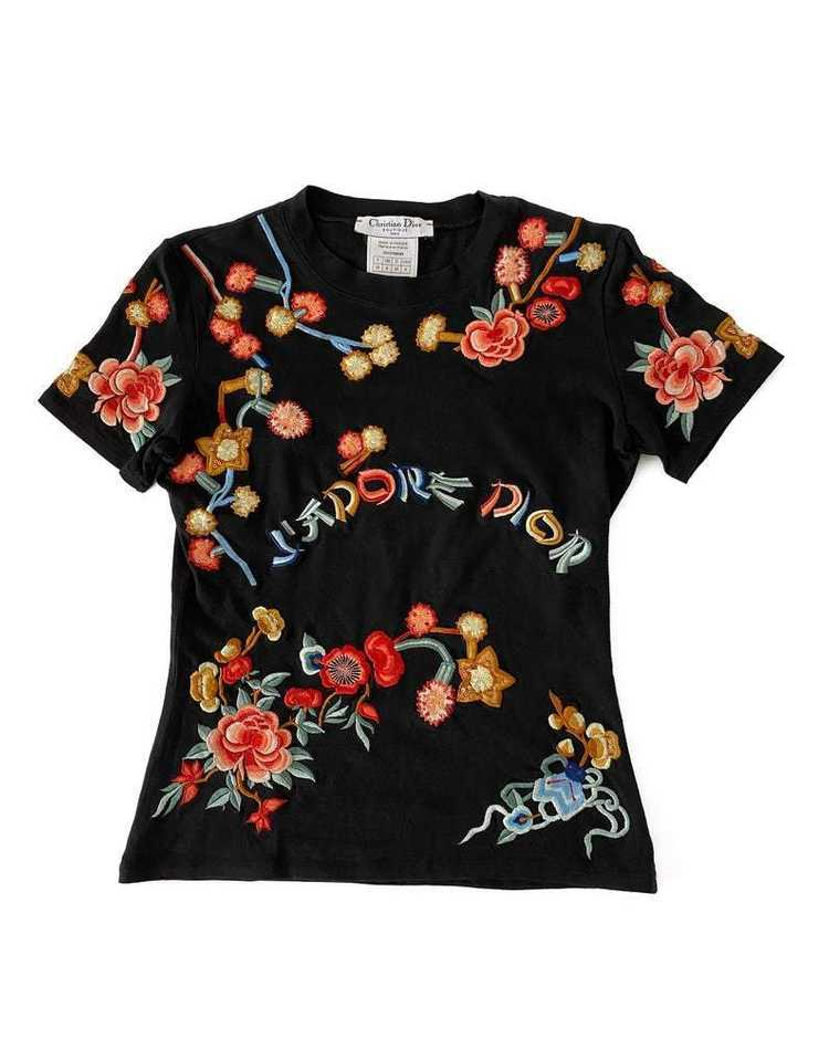 Christian Dior J'adore Dior Asian Embroidered T-S… - image 4
