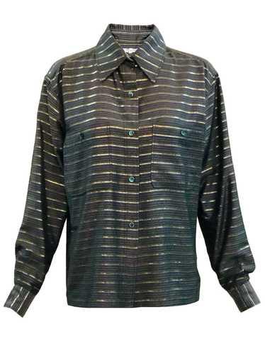 YSL 70s Metallic Stripe Blouse