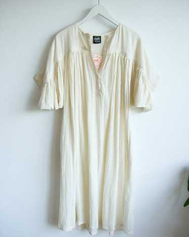 'Deadstock' chalk cheesecloth Zodiac dress
