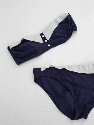 Navy Bandeau Bikini