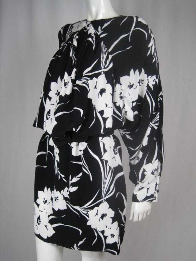 1980's Dress Graphic Floral Vintage - image 8