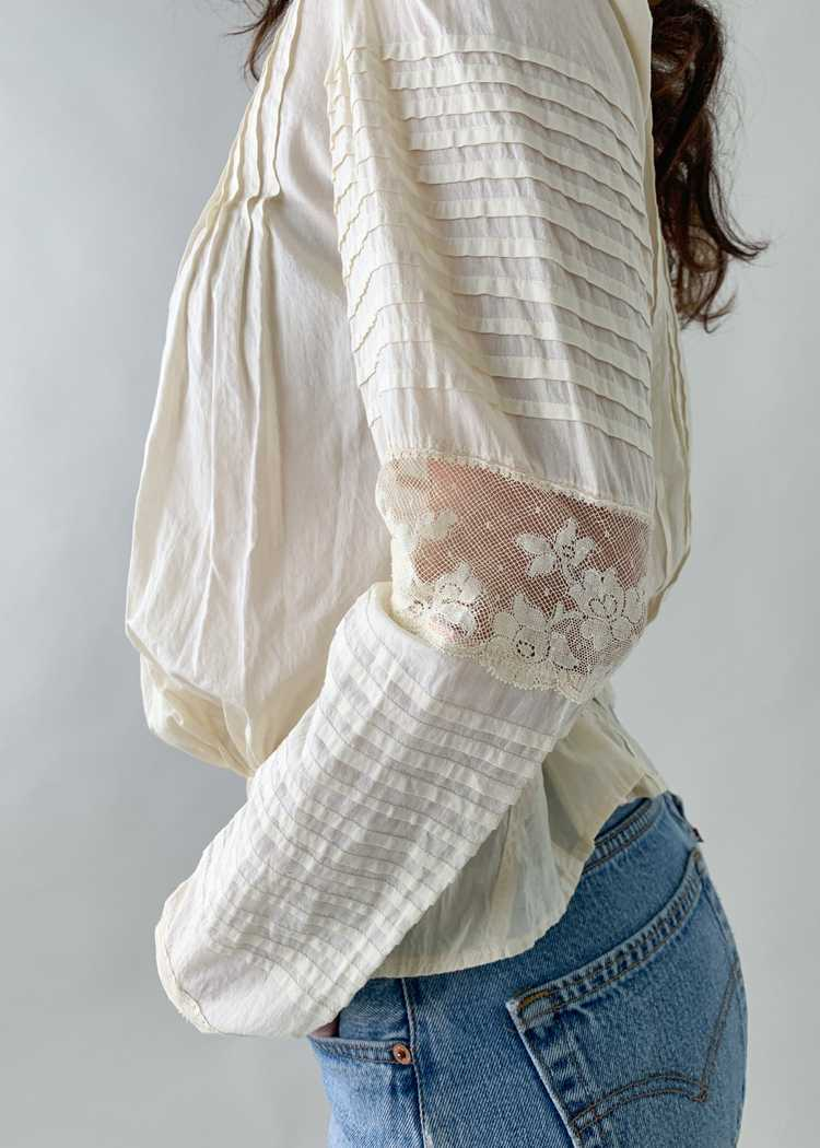 Antique 1890s Cotton and Lace Blouse - image 6