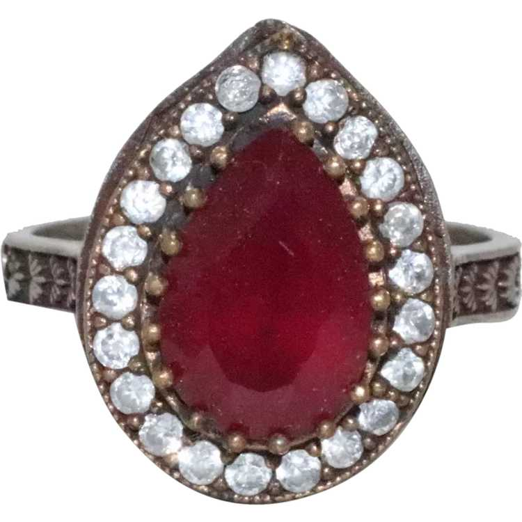 Sterling Silver Ruby Ring - image 1