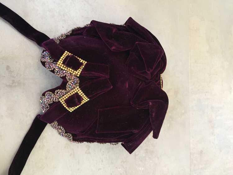 Purple Velvet Victorian Hat Bonnet - image 6