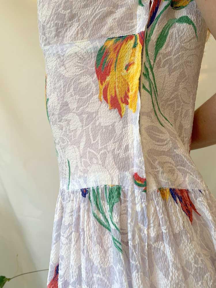 Tulip Print Voile Garden Party Dress - image 6