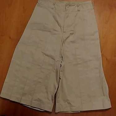 Wide Pants Gaucho Pants Beige