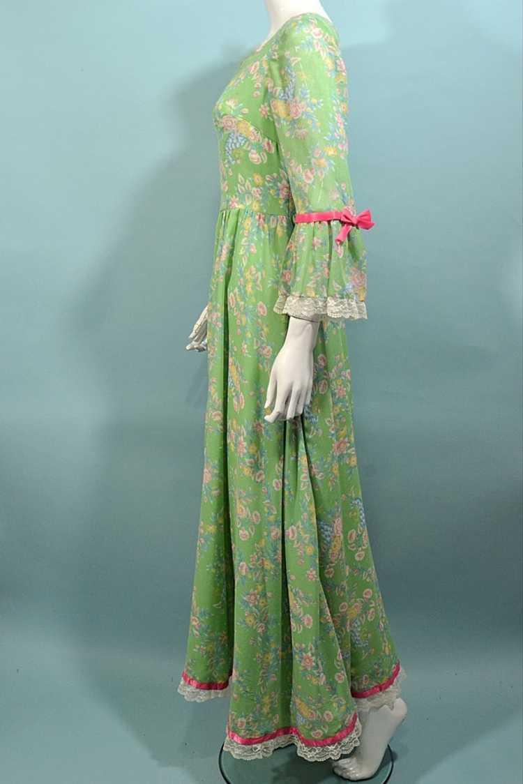 Vintage Cottagecore Prairie Fairycore Maxi Dress,… - image 6