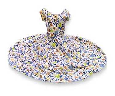 Marsha Young barkcloth dress