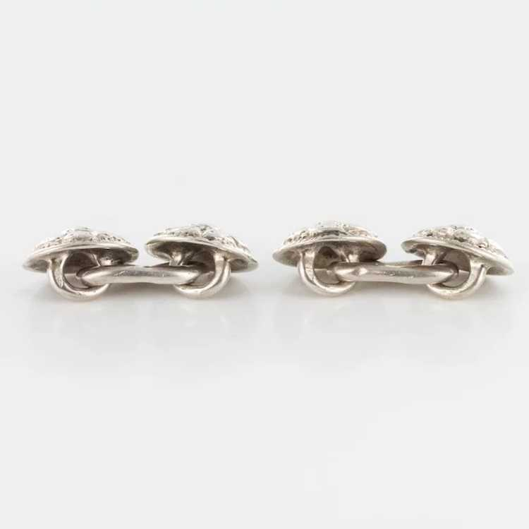 French 18th Century Sterling Silver Cufflinks - image 3