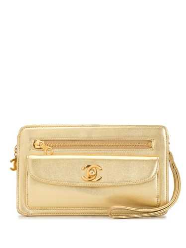 Chanel Pre-Owned 1997 CC clutch - GOLD