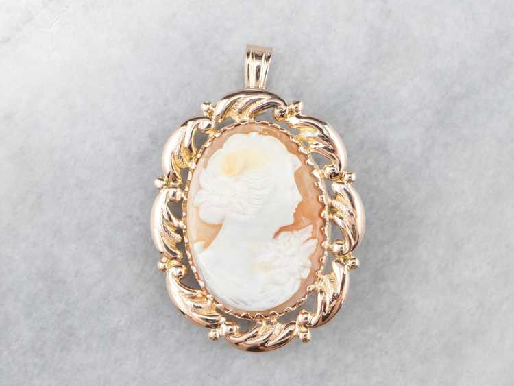 Mid Century Cameo Pendant or Pin - image 2
