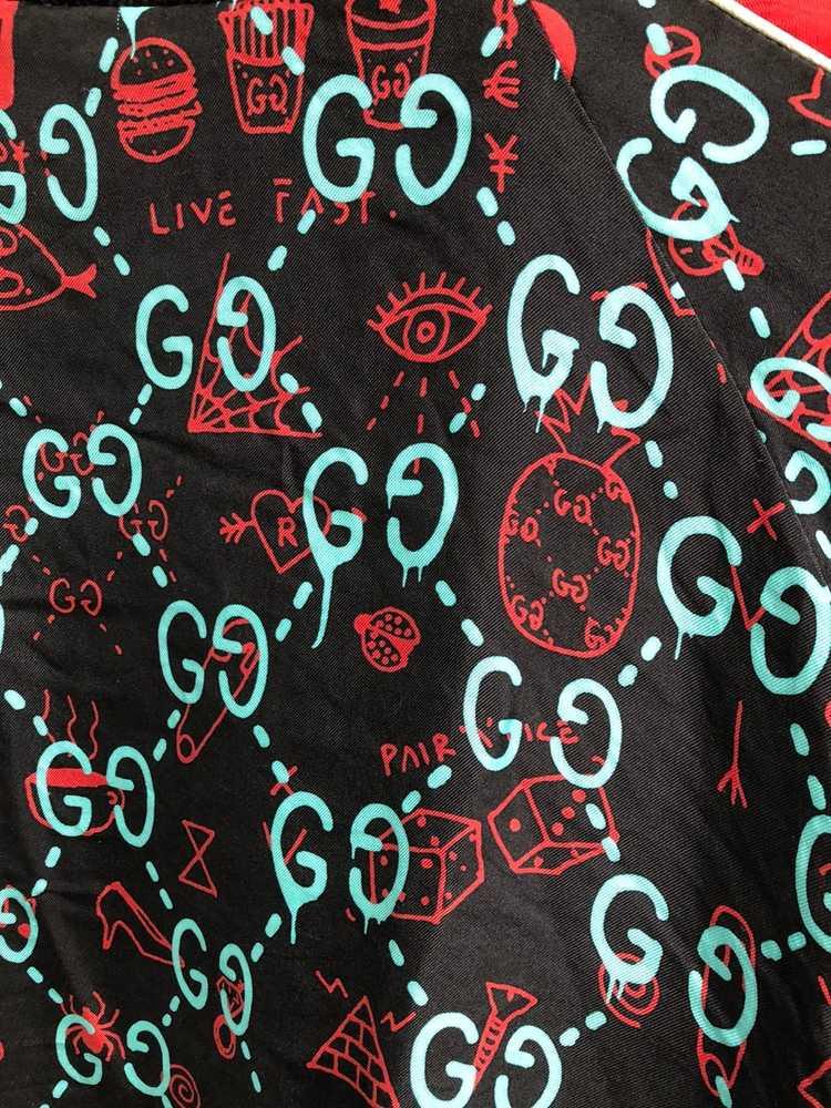 Gucci Gucci Ghost Silk Bomber - image 10