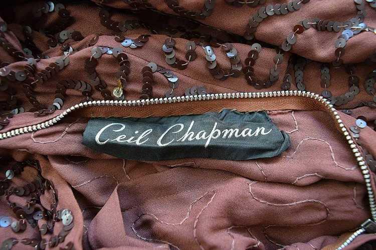1940s Ceil Chapman dress . vintage sequin dress - image 4