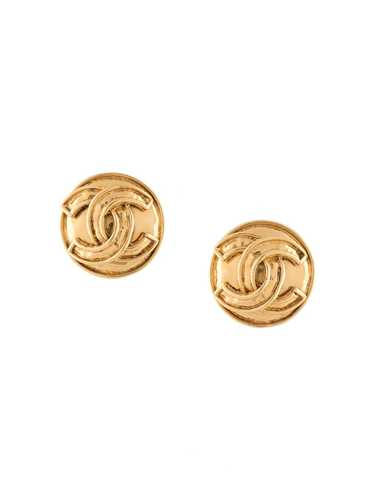 Chanel Pre-Owned 1994 CC button earrings - GOLD