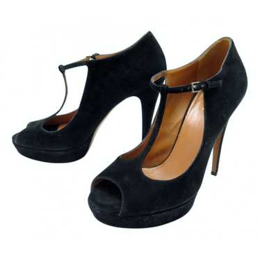 Prada Black Suede Heels for Women 38 EU