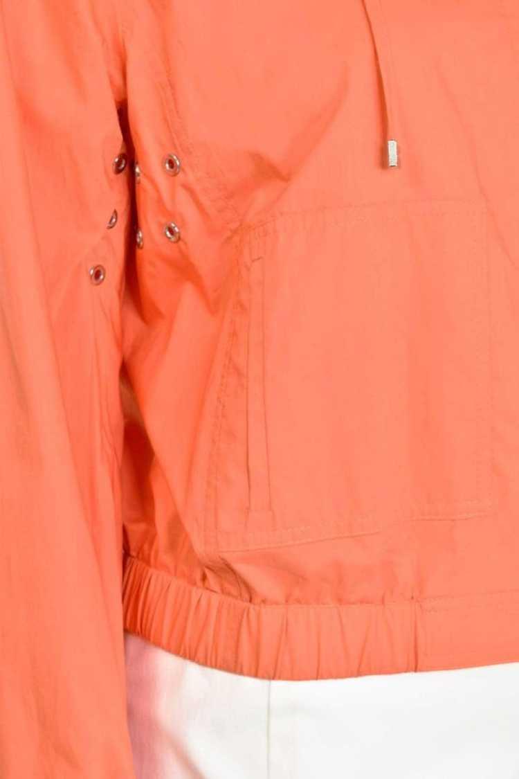 Escada Orange Bomber Zip Hooded Jacket - image 3