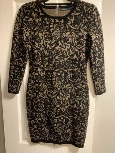 Karen Millen Designer BodyCon Knit Dress + Black F