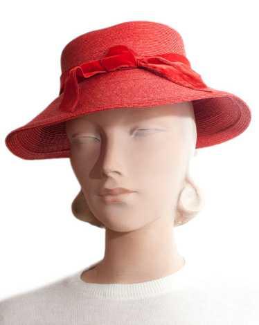 1960s Elsa Schiaparelli Straw Hat