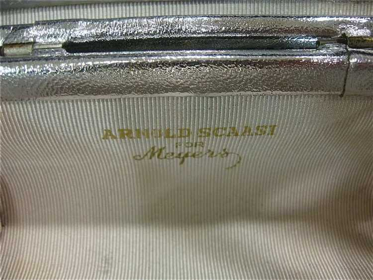 Arnold Scaasi Silver Studded Evening Bag - image 9