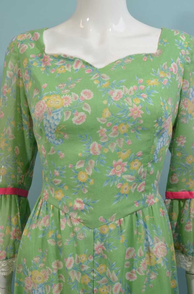 Vintage Cottagecore Prairie Fairycore Maxi Dress,… - image 4