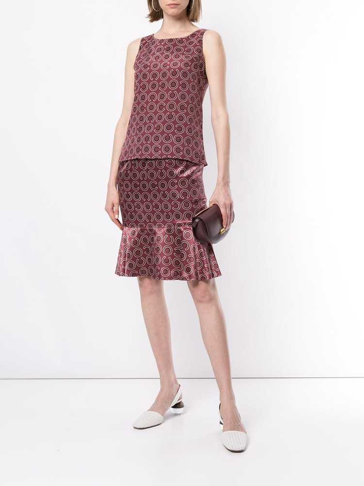 Chanel Pre-Owned 2001 geometric print two-piece s… - image 2