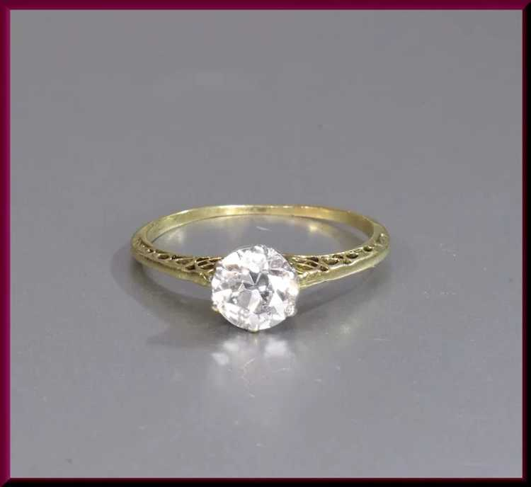 Victorian Diamond Engagement Ring - image 3
