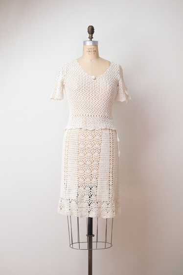 1970s Crochet Dress Set